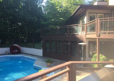 Deck Painting - Manotick Rideau Forest